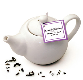 Mini White Teapot Favor