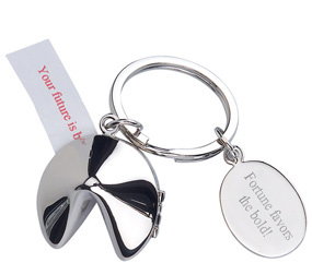 Personalized Silver Asian Fortune Cookie