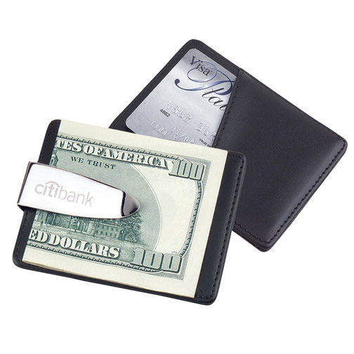 Silver Credit Card Holder & Money Clip*