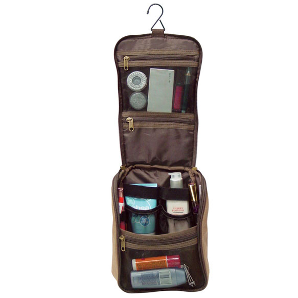 Compact Travel Toiletry Cosmetic Organizer Bag*
