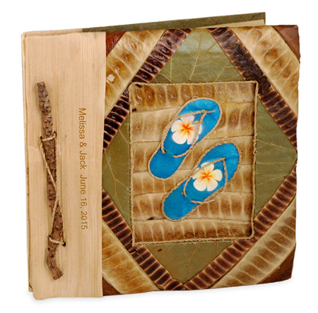 Tropical Beach Butterfly Leaf Photo Album*