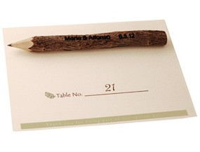 Personalized Twig Pencil With Place Card