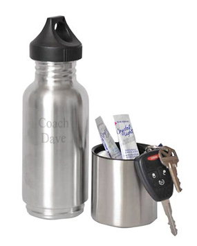Stainless Steel Workout Water Bottle with Compartment*