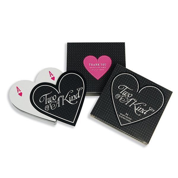 Two of a Kind Heart Shape Playing Poker Cards