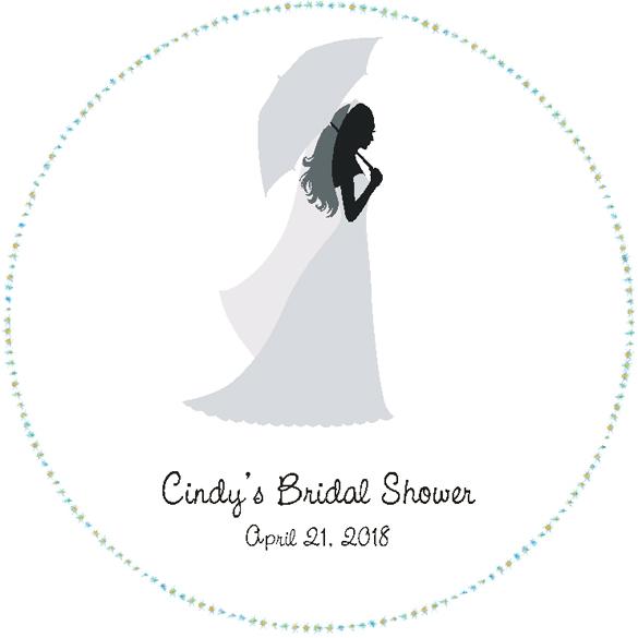 Umbrella Bridal Shower Floor Decal