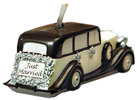 Just Married Vintage Wedding Candle Car*