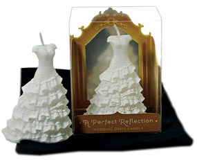 A Perfect Reflection Wedding Dress Candle