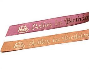 Personalized Birthday Favor Ribbons (50 precut pcs.)
