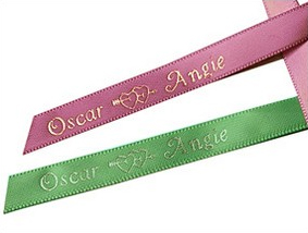 Heart Personalized Ribbons (60 precut pcs.)