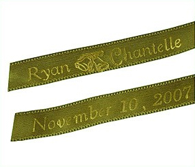 Personalized Wedding Bell Ribbons (50 precut pcs.)