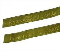 Personalized Wedding Ribbons Custom Keepsake Tags