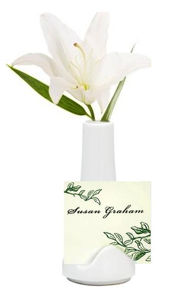 Mini Ceramic Vase Place Card Holder (Set of 6)