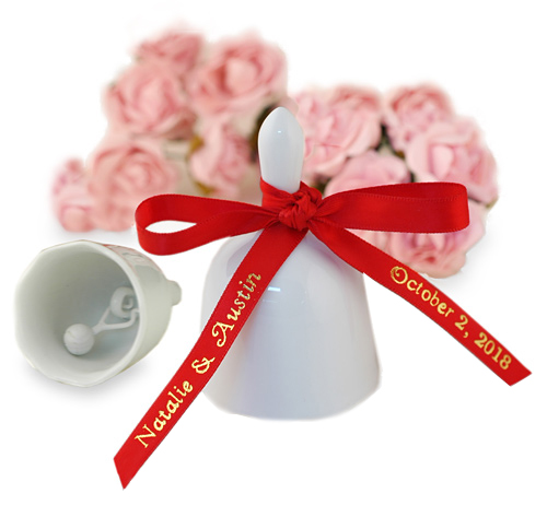 Purity White Wedding Bell Favor