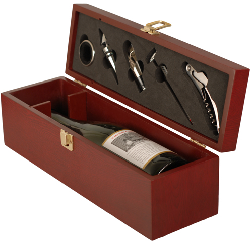 His hers stainless steel martini bar set with hard case for Timber wine box