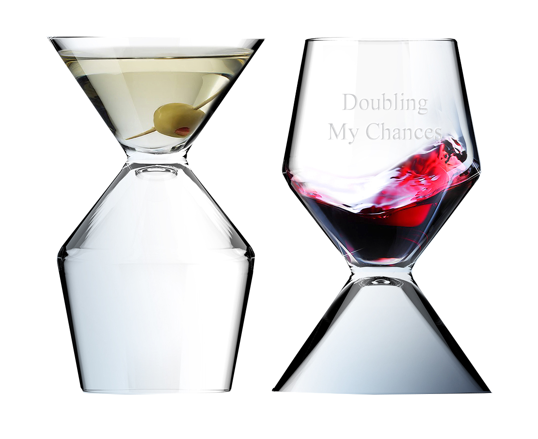 Vino Tini Double Function Wine & Martini Party Glass
