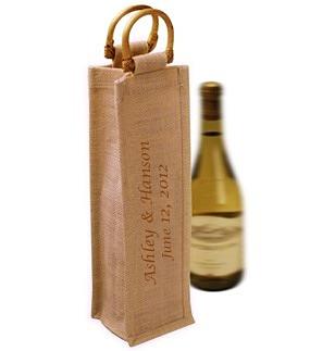 Personalized Jute Wine Bag