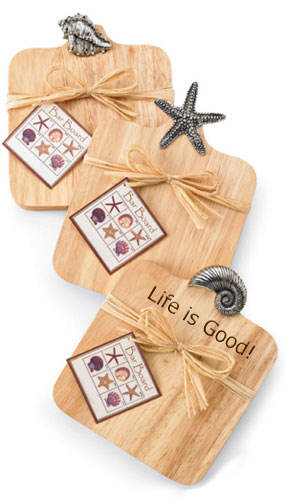 3 Sea Life Wood Bar Cutting Boards