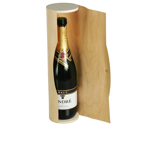 Wood Scroll Wine Bottle Box Holder