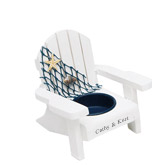 Nautical Wooden Beach Shell Deck Chair