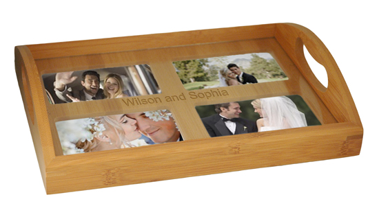 Personalized Bamboo Family & Friends Photo Tray*