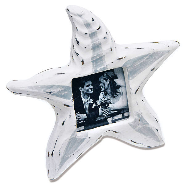 Wooden Starfish Beach Photo Frames (Set of 8)