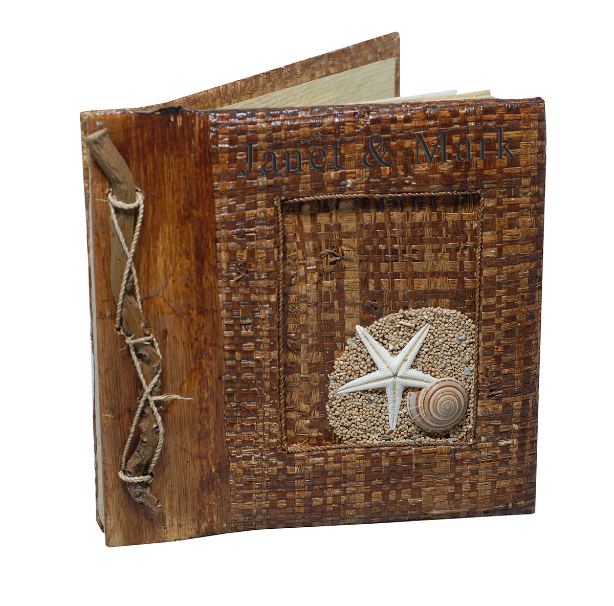 Handcrafted Natural Weaved Beach Starfish Photo Album