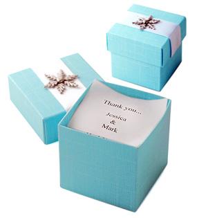 Winter Wonderland Snowflake Favor Box