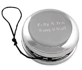Engraved Silver Plated Yo-Yo