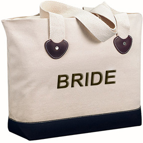 Canvas Zipper Tote Bag - Beach Wedding Favors