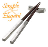 silver chinese wood chopsticks
